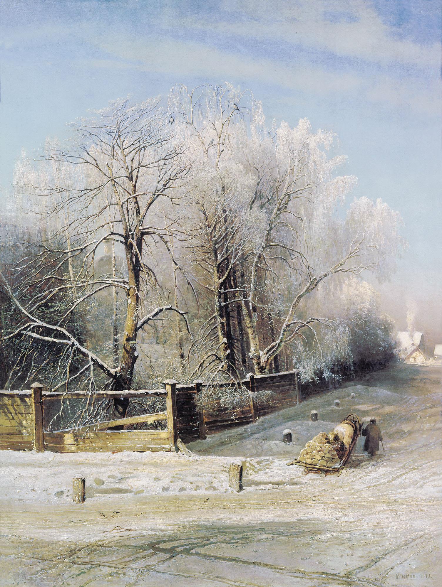 Зимний пейзаж...